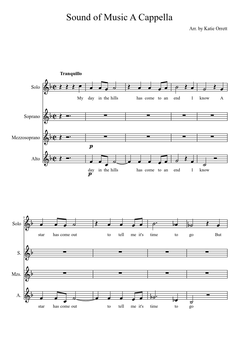 It's just a graphic of Peaceful Free Printable Sheet Music for the Sound of Music