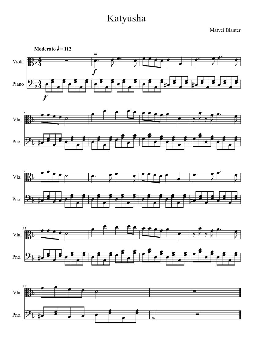 Katyusha - piano tutorial