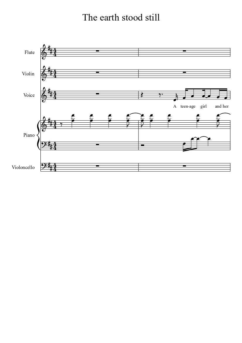 The earth stood still - piano tutorial