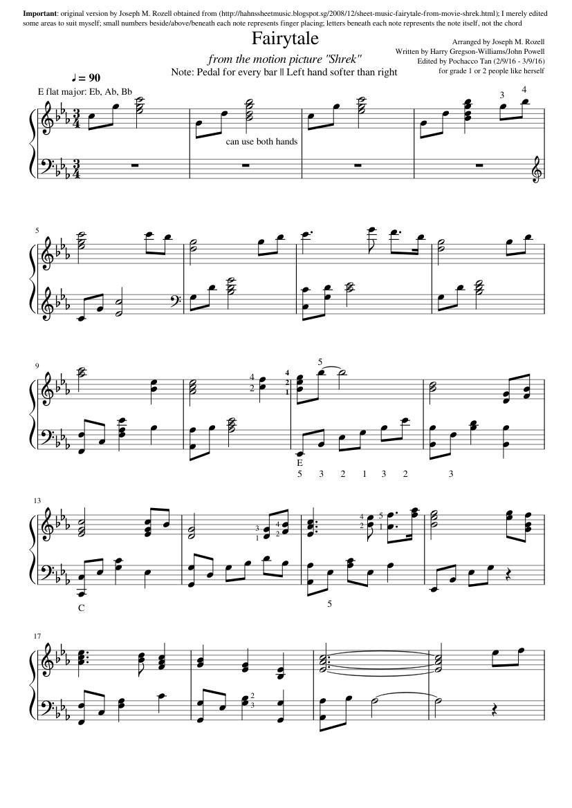 Fairytale Piano Tutorial