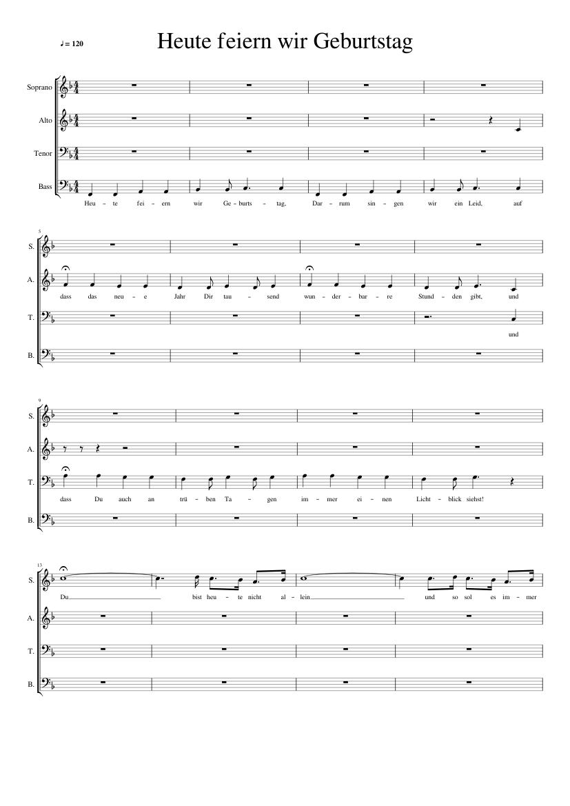 Heute feiern wir Geburtstag sheet music for Voice download