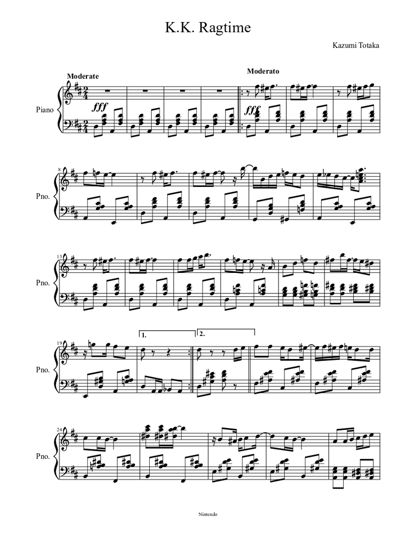 k.k. ragtime sheet music for piano (solo)   musescore.com  musescore.com