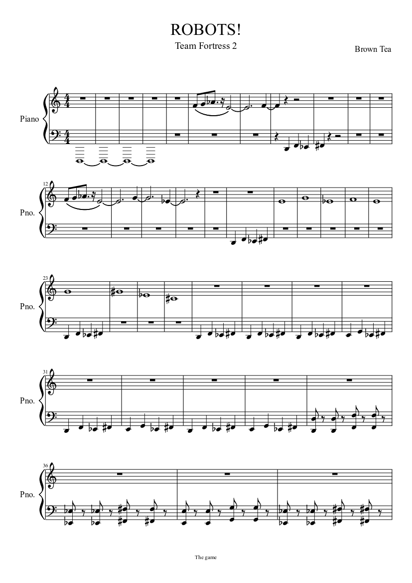 ROBOTS! sheet music download free in PDF or MIDI
