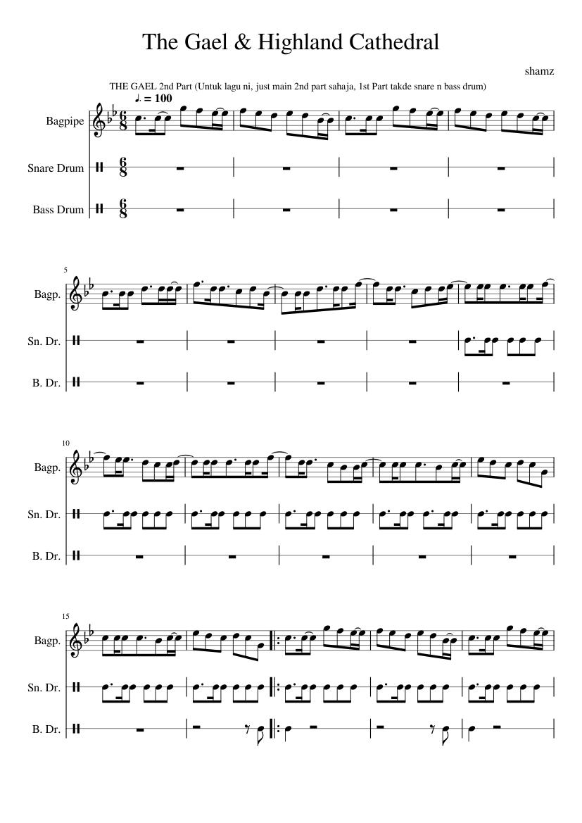 Ammcobus : The gael bagpipe sheet music free download