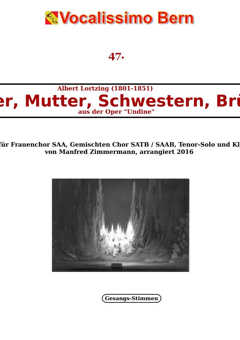 Vater, Mutter, Schwestern, Brüder - from the opera Undine - Piano