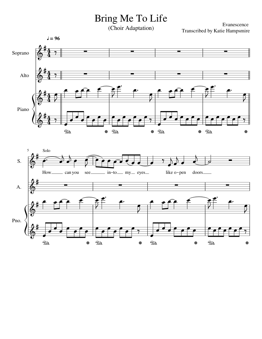 Words to bring me to life download bring me to life sheet music.