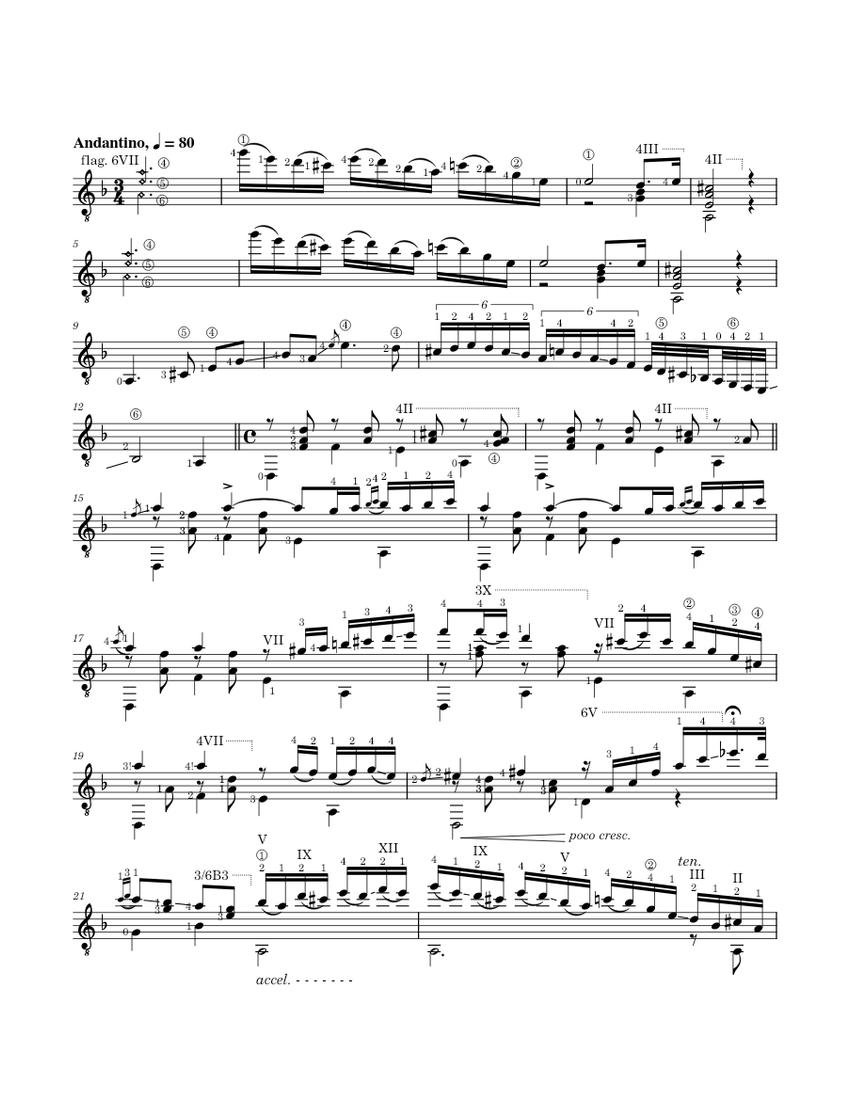Capricho Árabe rev4 Sheet music for Guitar (Solo ...