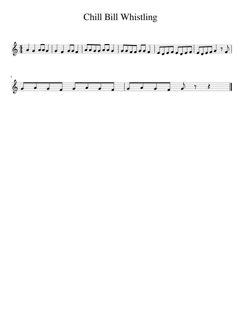 chill bill whistling trumpet improved sheet music for trumpet