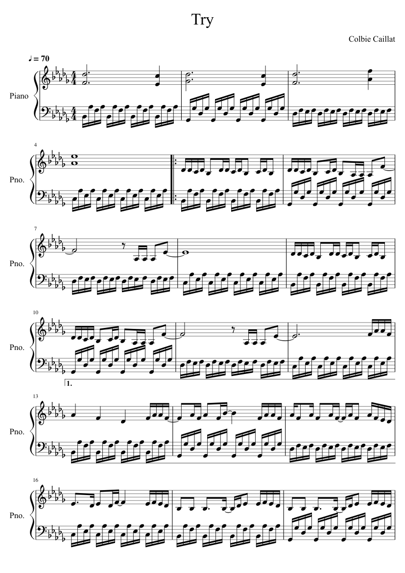 try colbie caillat piano sheet music free