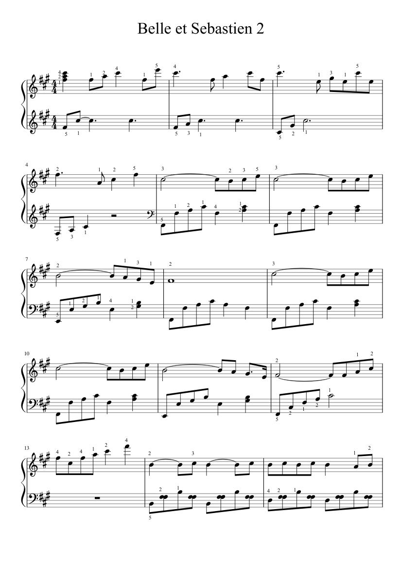 belle ноты для фортепиано