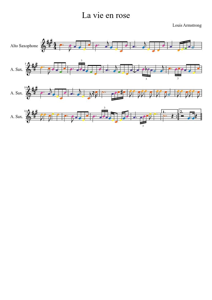 La vie en rose *updated 2nd part* sheet music for trumpet download.