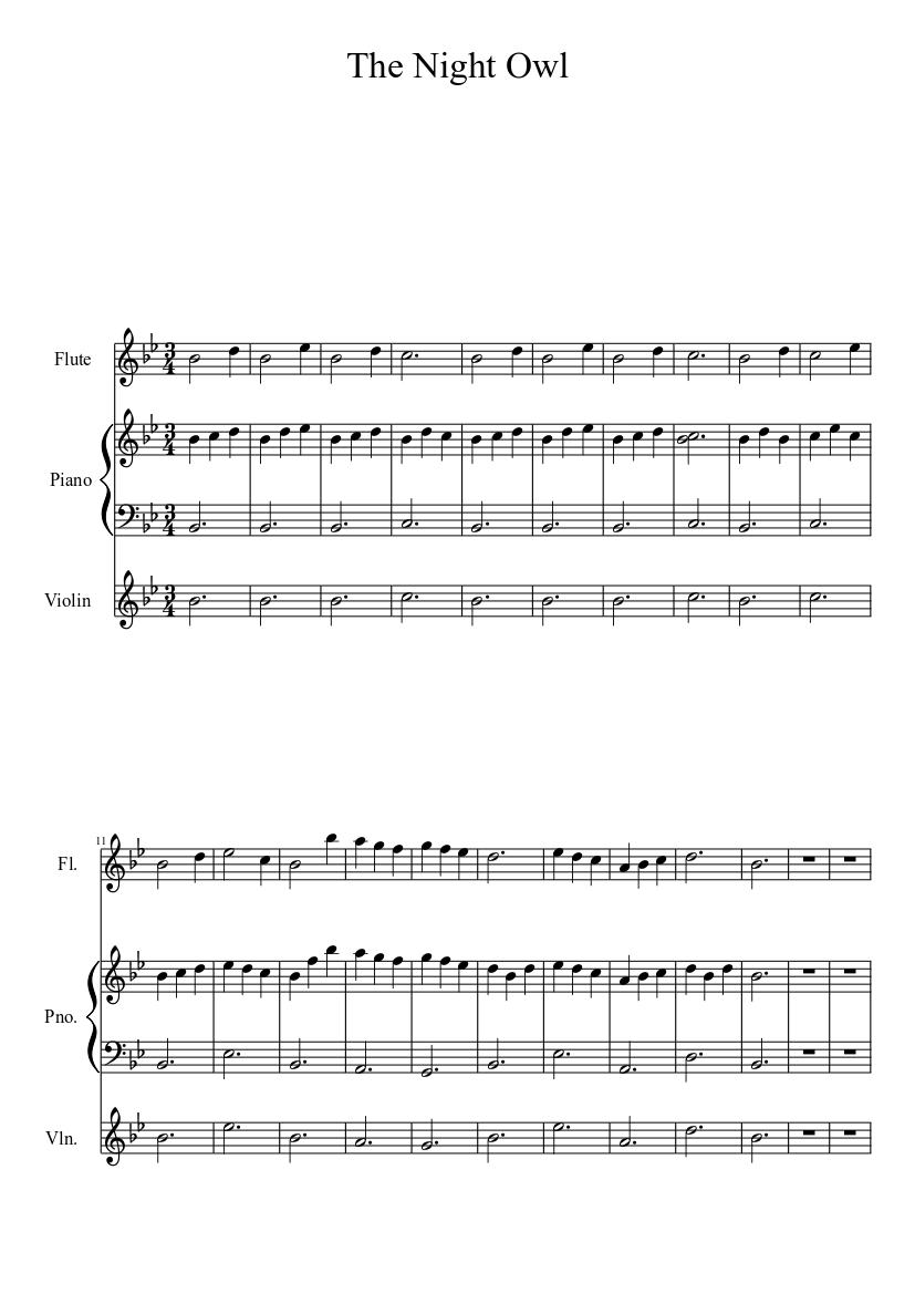 The Night Owl - piano tutorial