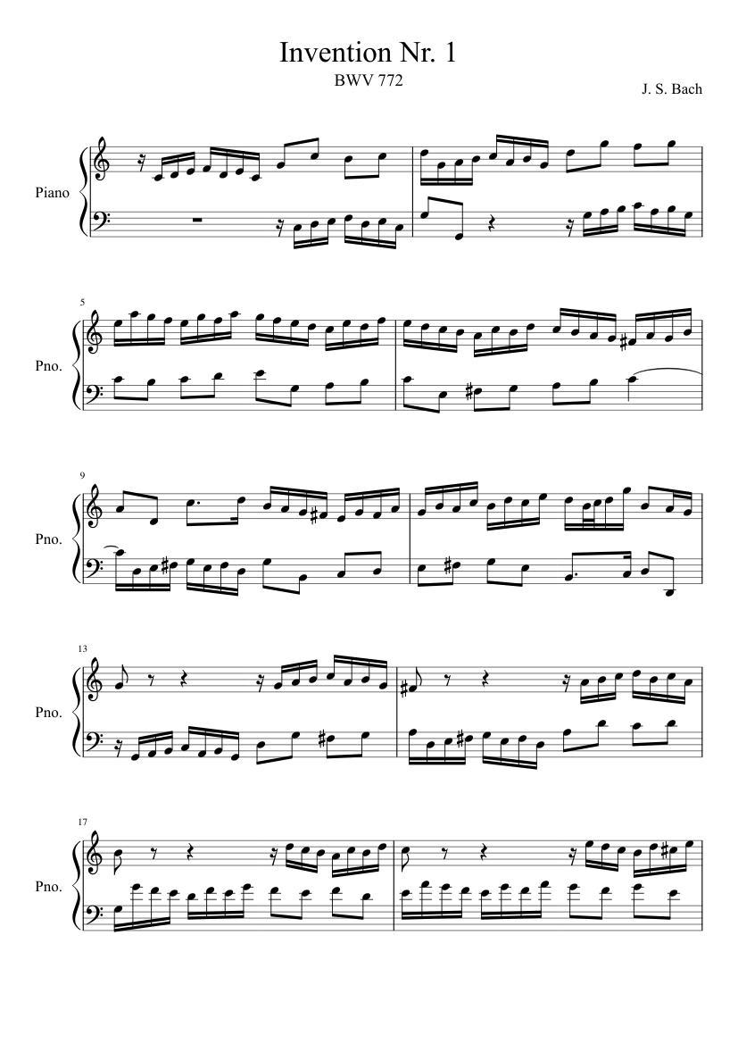 Bach invention no 14 pdf