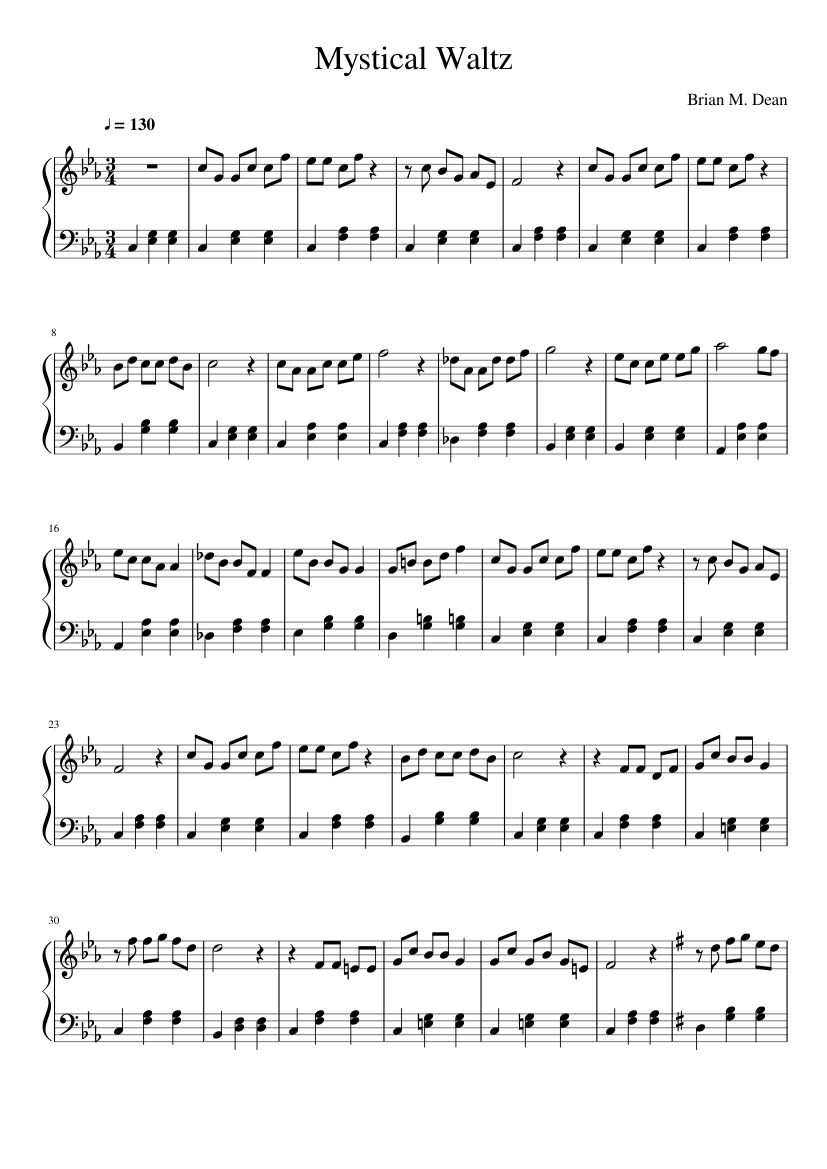 mystical waltz sheet music for piano (solo)   download and print in pdf or  midi free sheet music   musescore.com  musescore.com