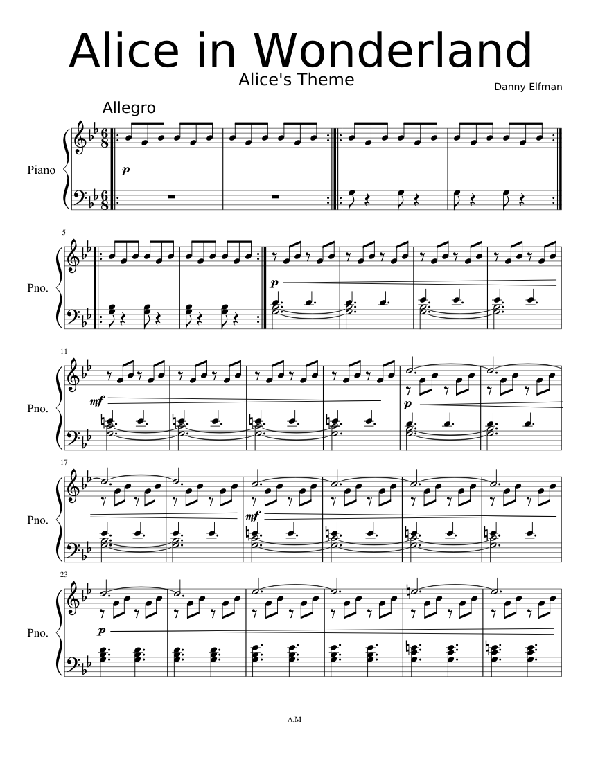 100 Images of Alice In Wonderland Theme Song Piano