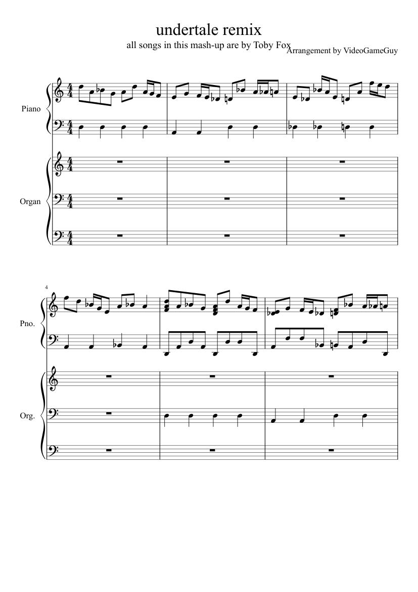 megalo strike back remix sheet music for Piano, Organ