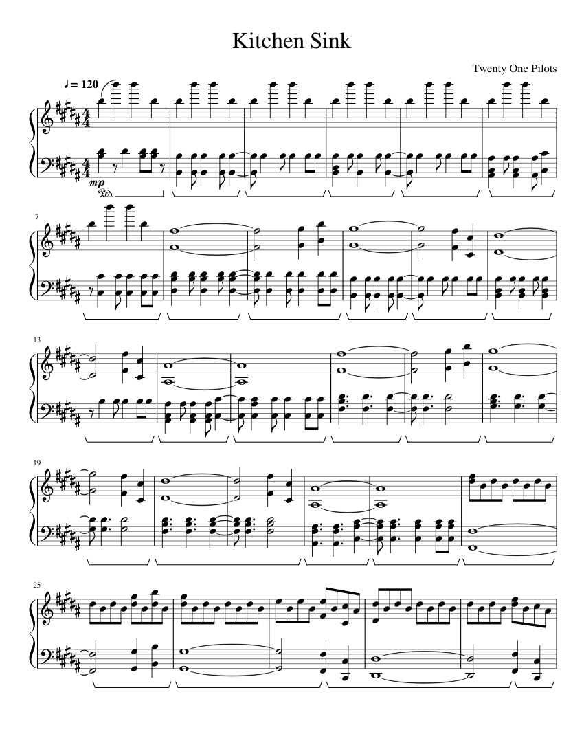 Kitchen Sink Sheet music for Piano