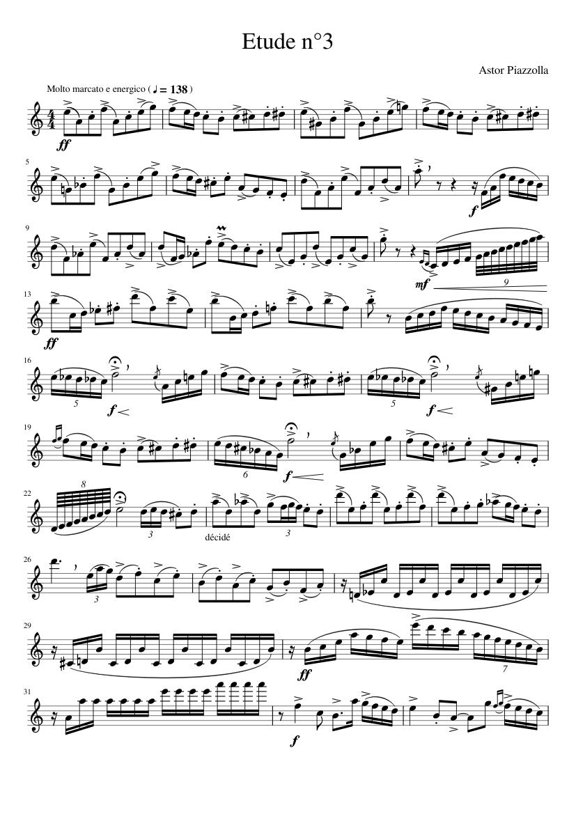 Tango piano sheet music free download.