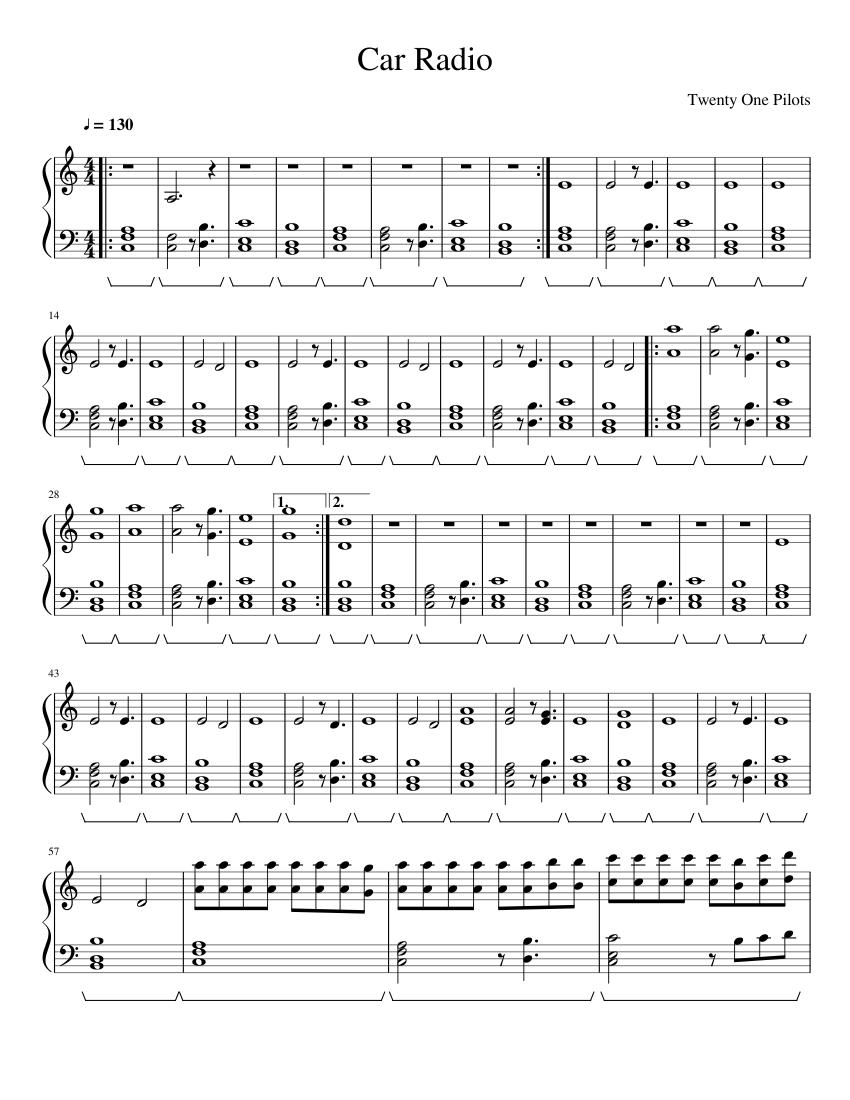 Car Radio Sheet music for Piano Solo   Musescore.com