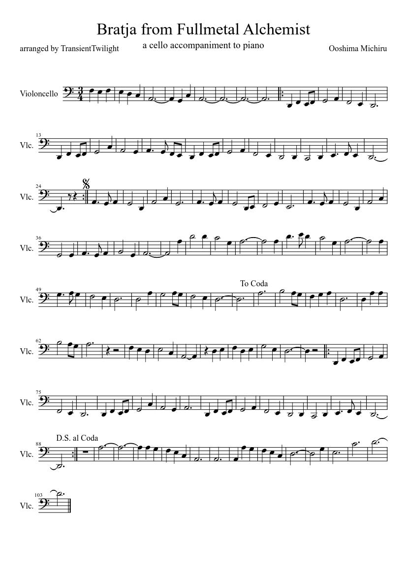 Again (fullmetal alchemist: brotherhood) violin sheet music for.