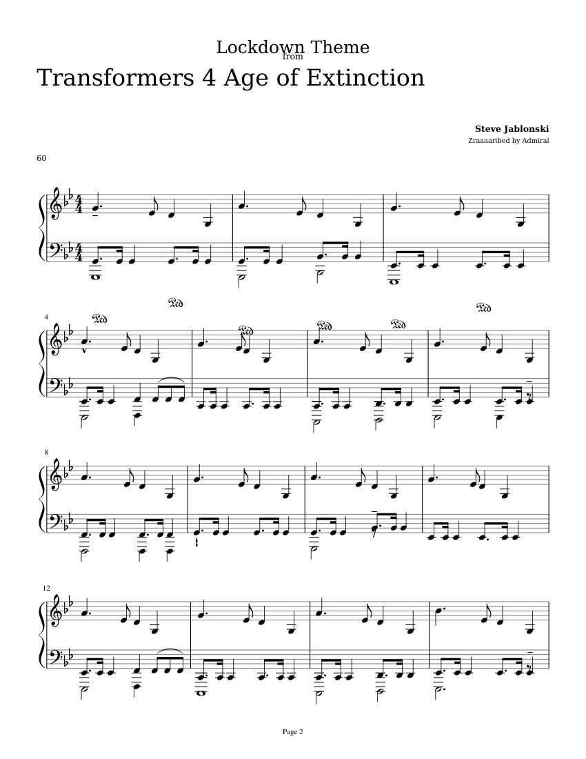 Lockdown Theme Sheet Music For Piano Solo Musescore Com
