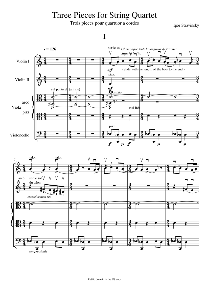 three pieces for string quartet sheet music for violin, cello, viola  (string quartet)   download and print in pdf or midi free sheet music with  lyrics (alternative rock )   musescore.com  musescore.com