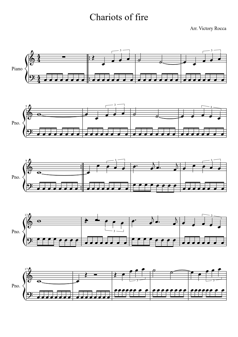 chariots of fire piano sheet music free