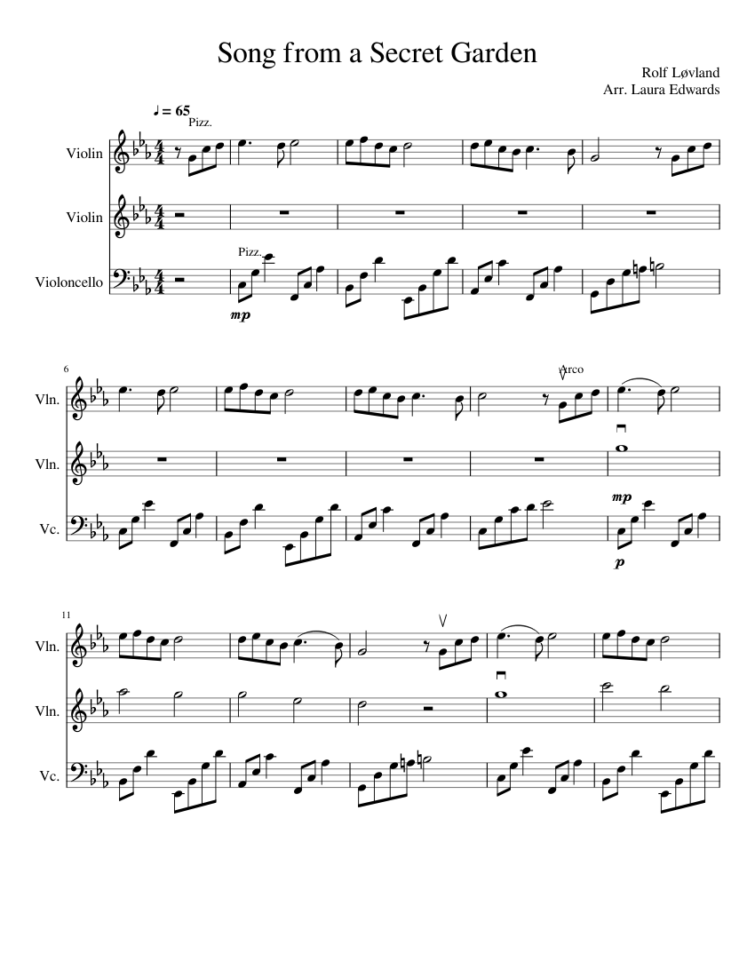 Download digital sheet music of rolf lovland for violin and piano.