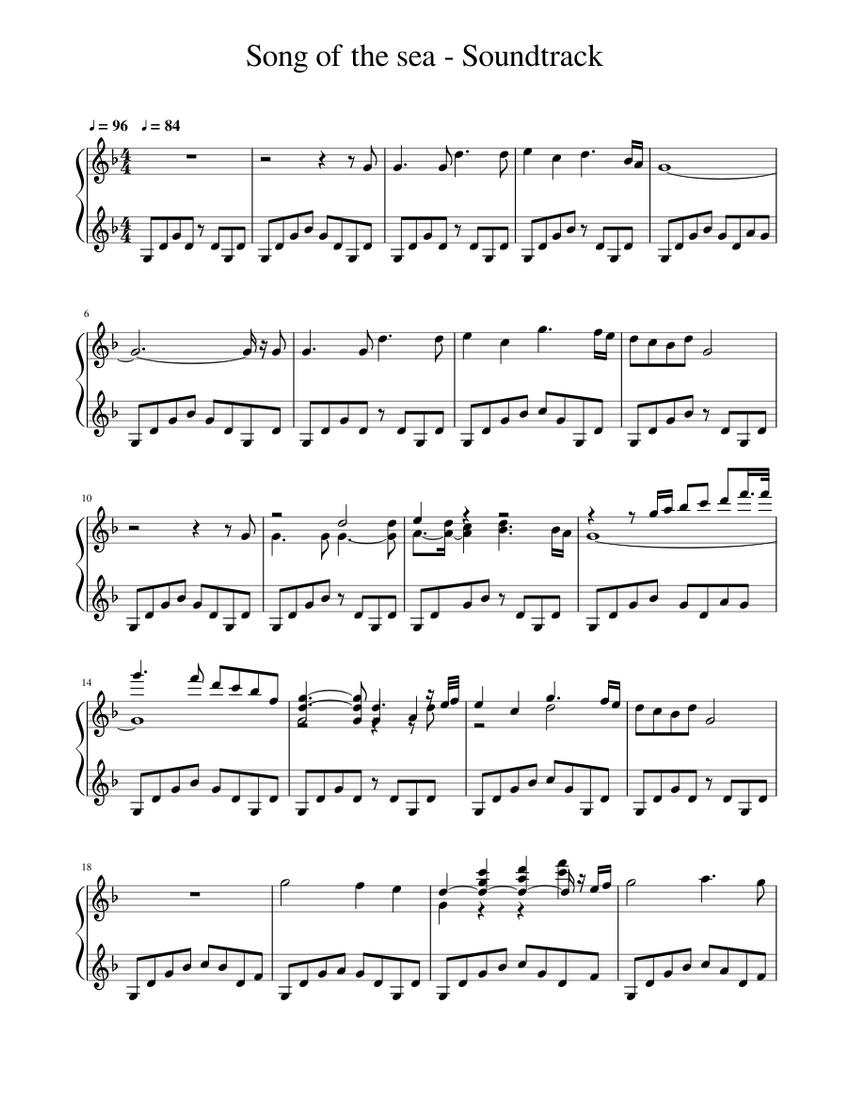 song of the sea - soundtrack sheet music for piano (solo) | musescore.com  musescore.com