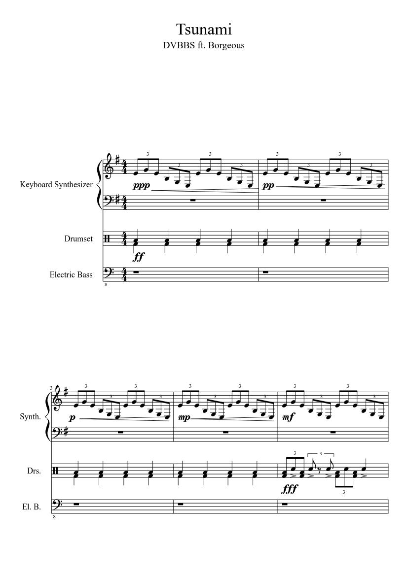 Tsunami sheet music download free in pdf or midi.