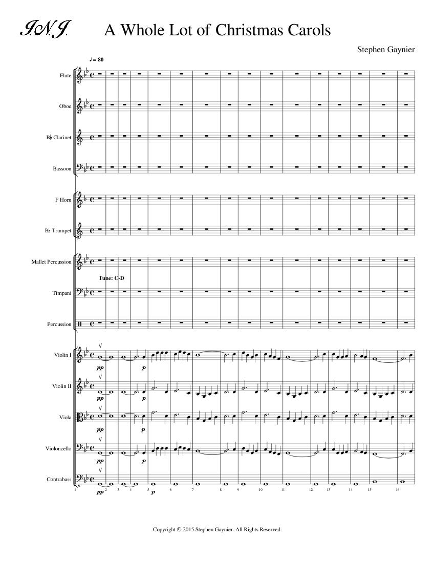 Christmas Carols Sheet Music.A Whole Lot Of Christmas Carols Sheet Music For Flute