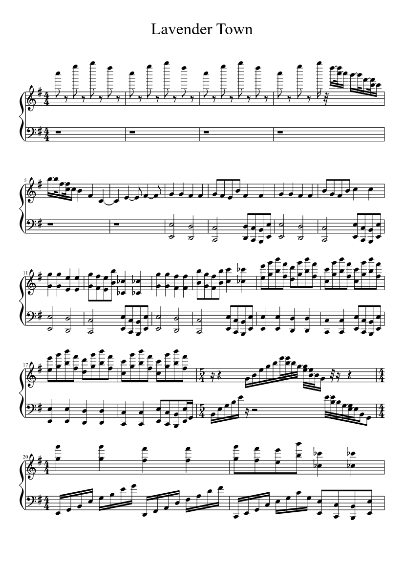 Epic Lavender Town Song Sheet Music Download Free In Pdf Or Midi