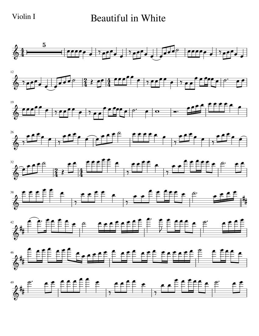 Beautiful in White Violin Part - Scribd