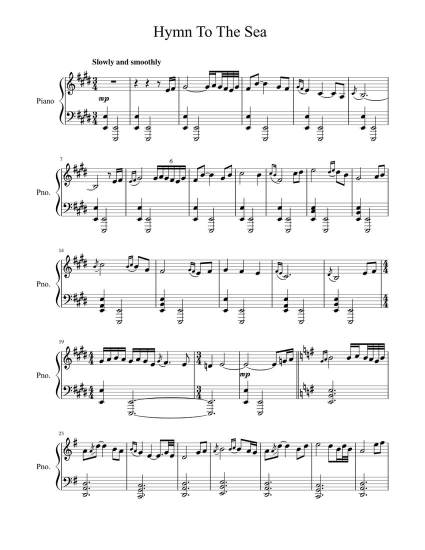 hymn to the sea- (titanic) -james horner sheet music for piano (solo) |  musescore.com  musescore.com