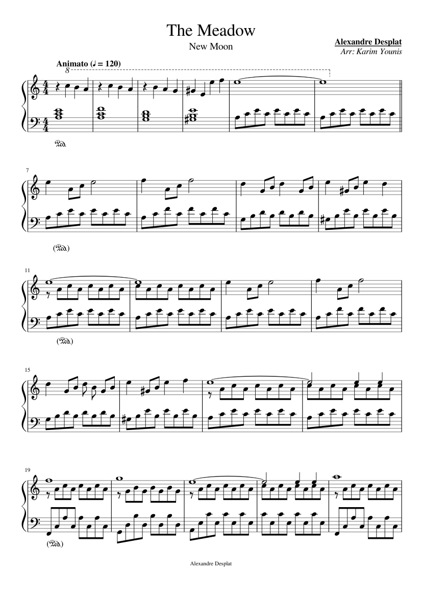 New moon (the meadow) sheet music.