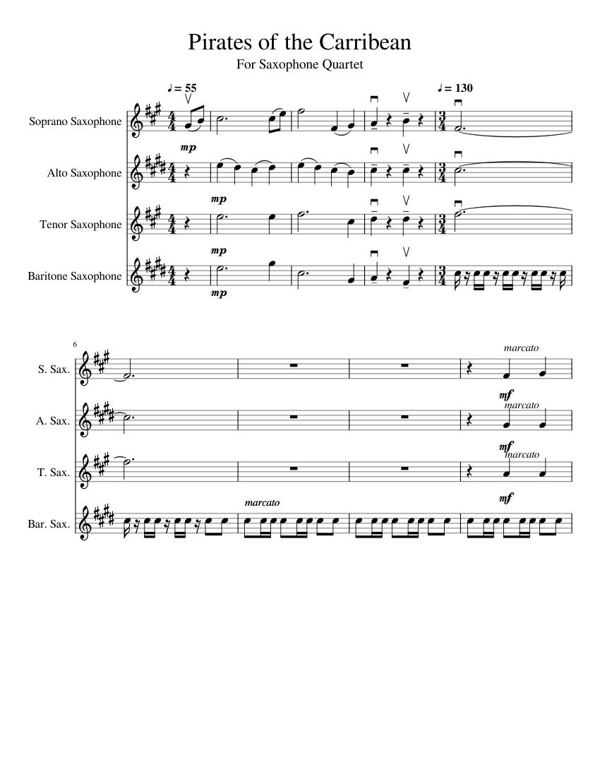 saxophonquartett noten