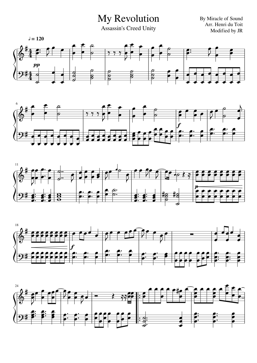 My Revolution Improved (Miracle of Sound) sheet music for Piano
