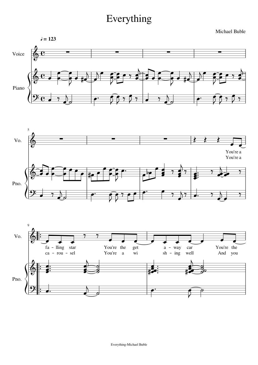 Feeling good piano sheet music michael buble | ♪ sheetmusic-free. Com.