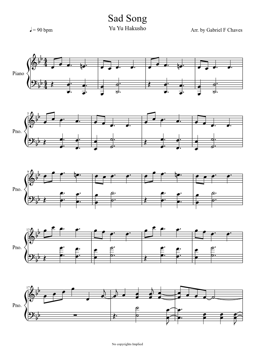"No angels"" sad piano instrumental song (vintage style) chords."