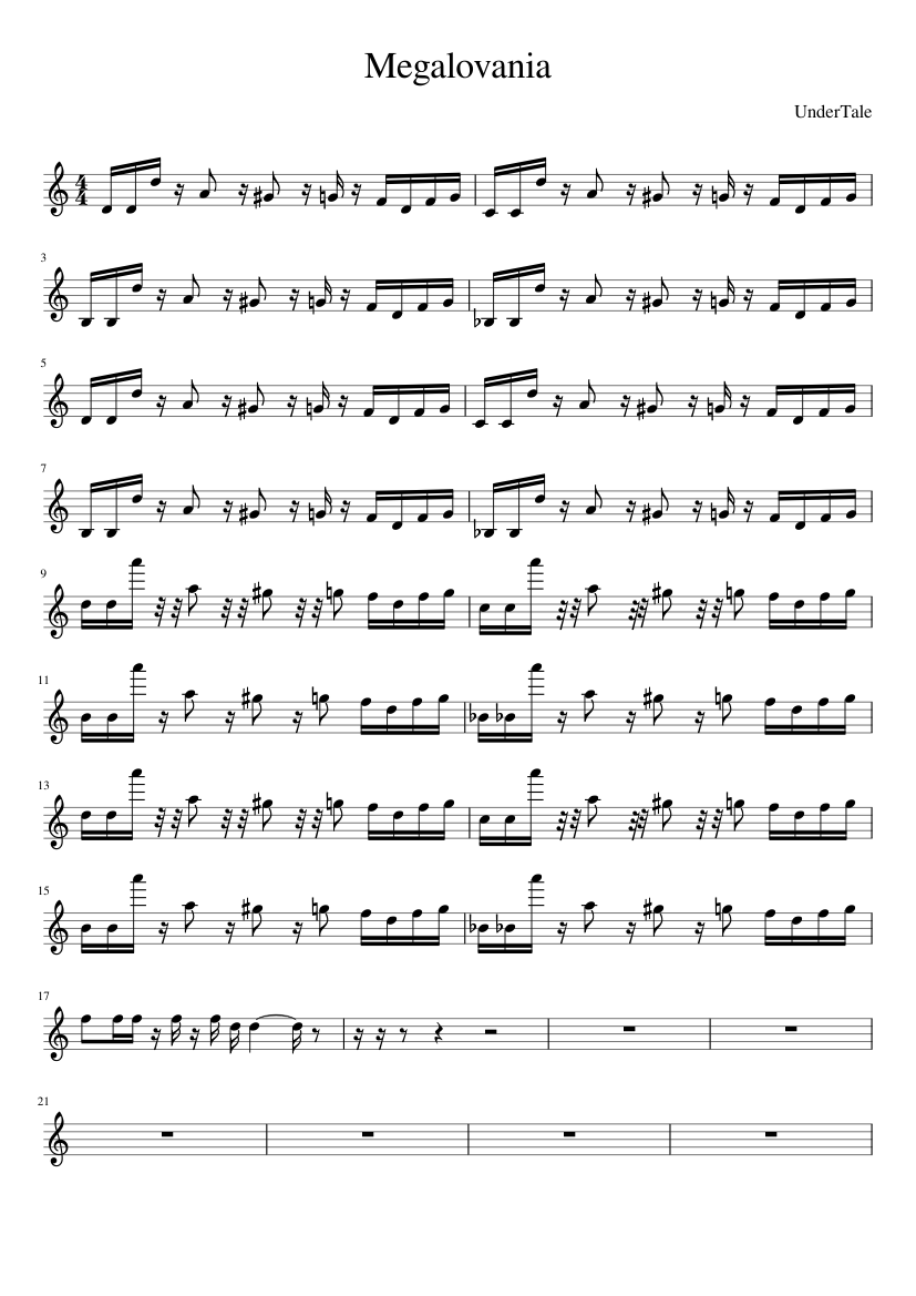 Megalovania Piano Tutorial