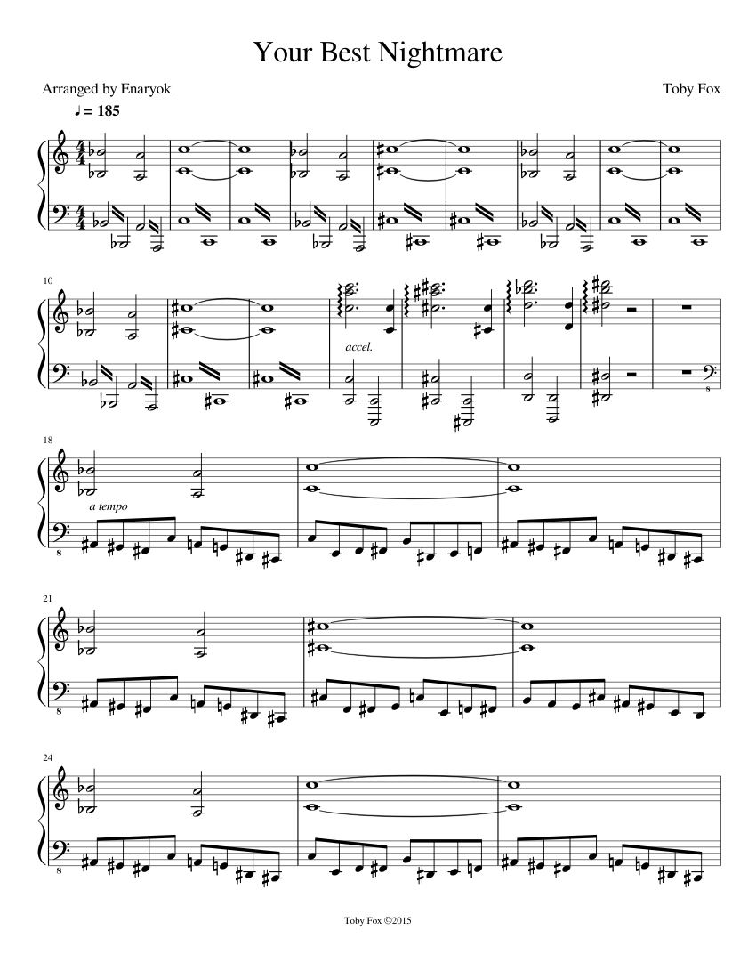 Undertale Your Best Nightmare Sheet Music For Piano Download Free