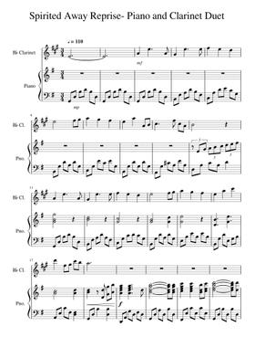 spirited away - reprise by joe hisaishi free sheet music | download pdf or  print on musescore.com  musescore.com