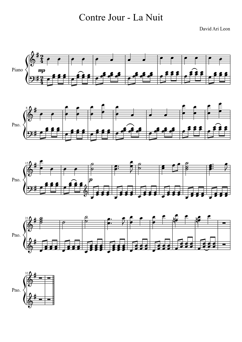 david ari leon sheet music