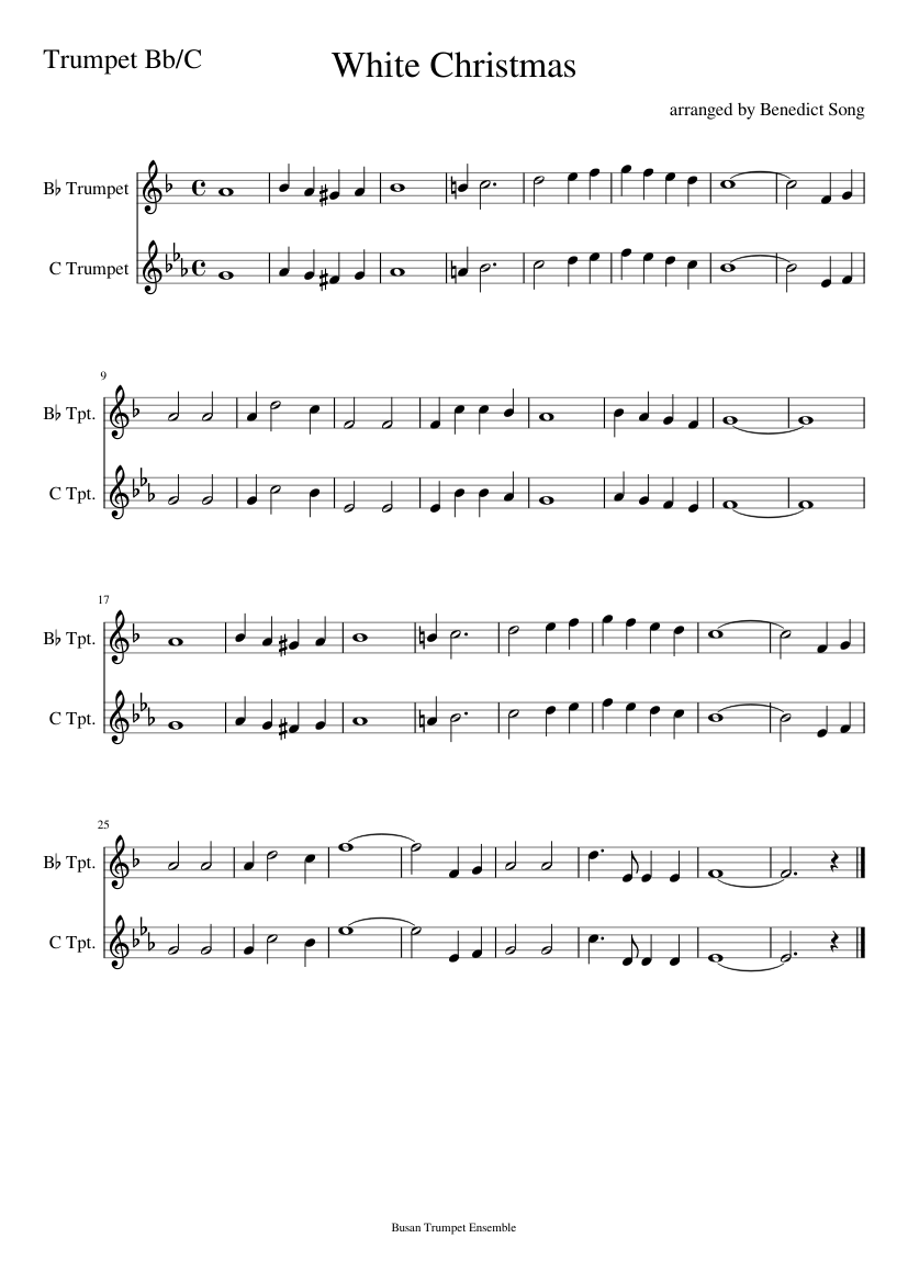White Christmas sheet music for Trumpet download free in PDF or MIDI