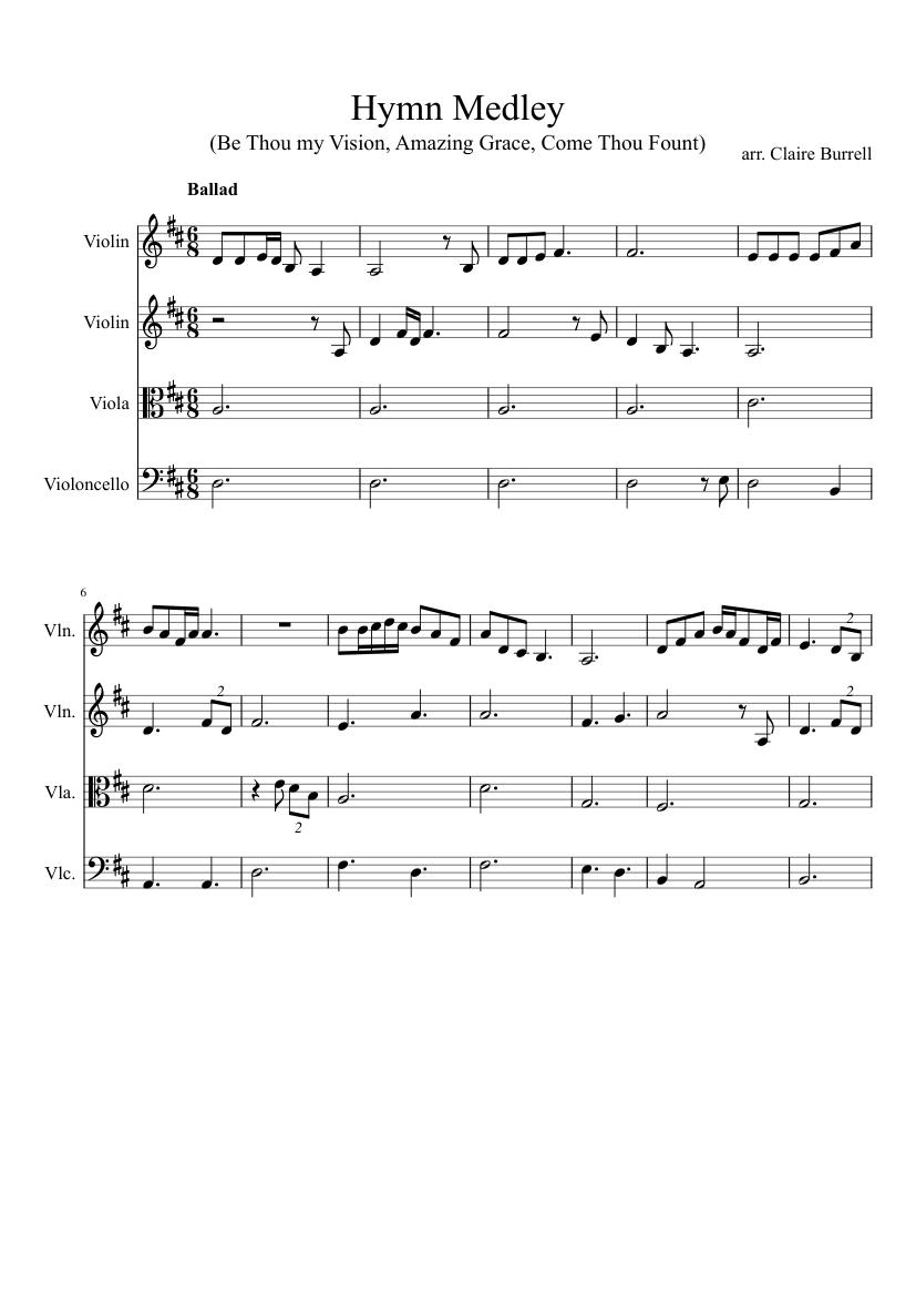 Hymn Medley Sheet Music For Violin Viola Mixed Trio Musescore Com