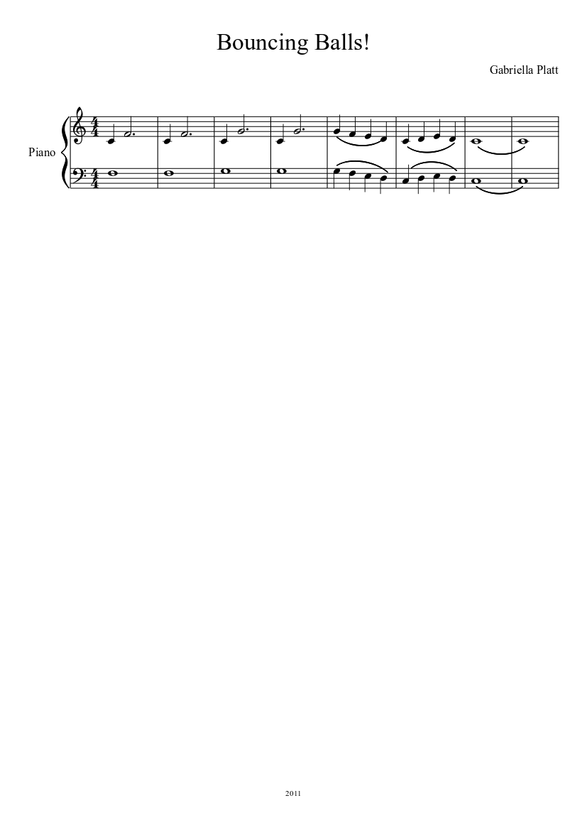 Bouncing Balls! sheet music download free in PDF or MIDI