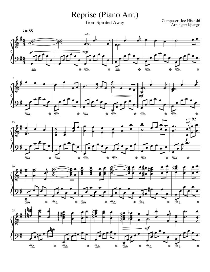 reprise (piano arrangement) sheet music for piano (solo) | musescore.com  musescore.com