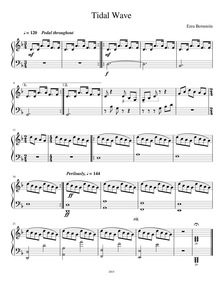Tidal Wave - piano tutorial