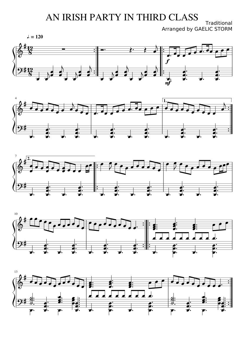 an irish party in third class violin sheet music free