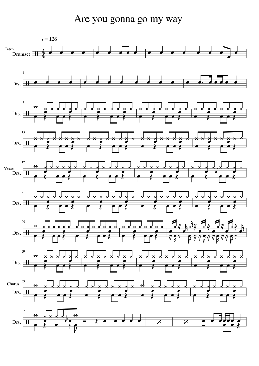 Are you gonna go my way sheet music for Voice, Guitar